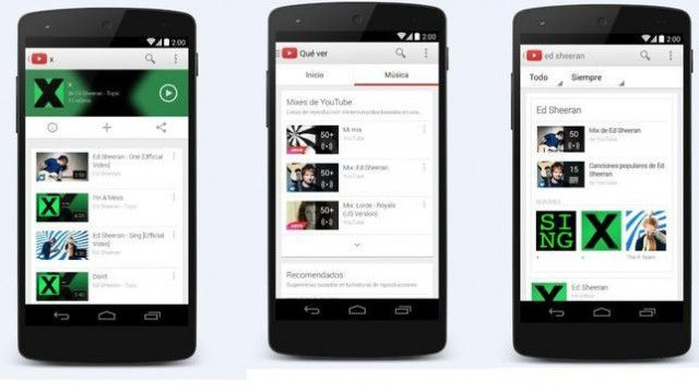 Lanza Google 'YouTube Music Key', un servicio de música por streaming