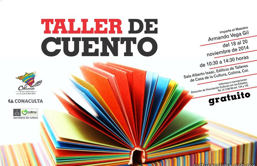 El escritor y músico Armando Vega Gil impartirá Taller de Cuento