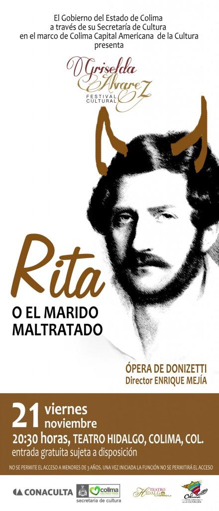 """La ópera cómica """"Rita o el marido maltratado"""" se presentará en el Teatro Hidalgo"""