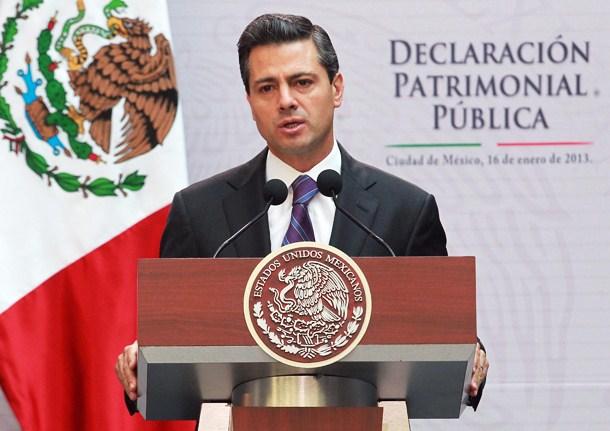 Peña Nieto recibe salario de 193,478 pesos mensuales