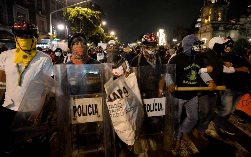 Ordenan liberar a 11 detenidos en protesta en México