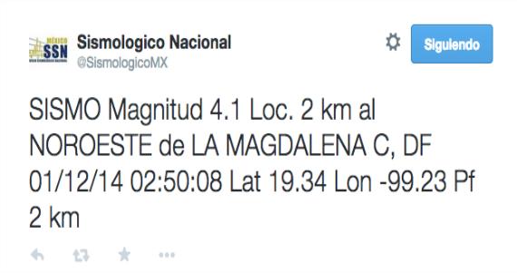 El DF tiembla, SSN reporta sismo de 3.4 grados en la Magdalena Contreras