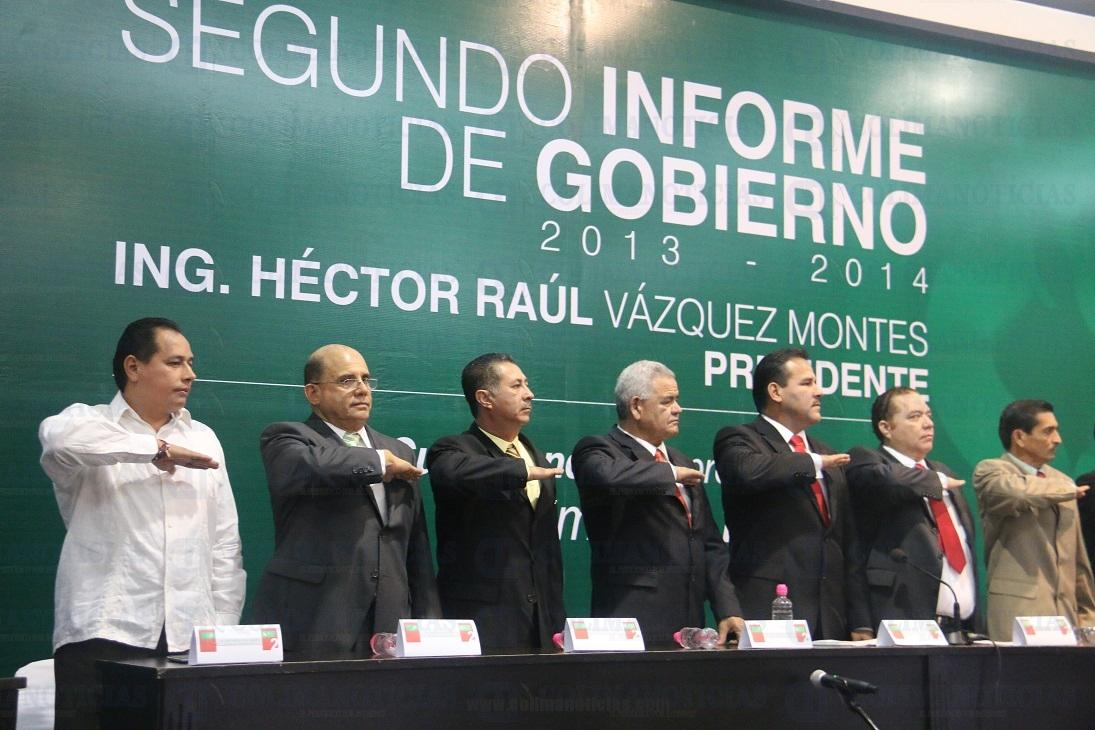 Presenta Héctor Vázquez su Segundo Informe de Gobierno