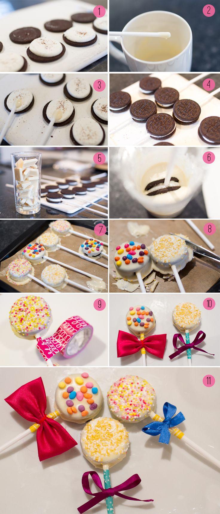 ¿Cómo hacer cake pops con galletas?