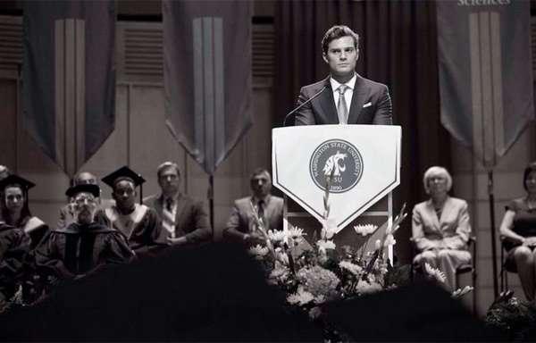 'Cincuenta sombras de Grey': Nueva foto de Christian en la graduación de Anastasia Steele