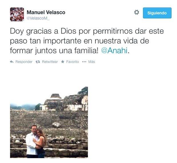 Manuel Velasco agradece a Dios su compromiso con Anahí